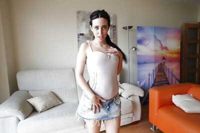 Euro Beauté Nicole Attrayant exposer et caresses grand Tous naturel seins