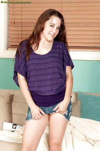 Amateur infant pretty Allison Grey gets undressed to show her aching body