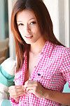 Infant babe goes charming naughty while profound jacking off her skinhead vag in solo