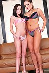 Arousing teens in bawdy softcire are having severe pleasure and wild sensations