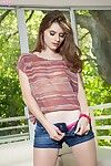 Posing and erotic dance outdoor is what teen model Alice March loves the most.