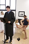 Haley Reed screwed by nasty stepbrother during prayer behind dads in the past