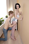 Boobsy teen Candy Cola takes an internal spunk flow in the doggystyle position