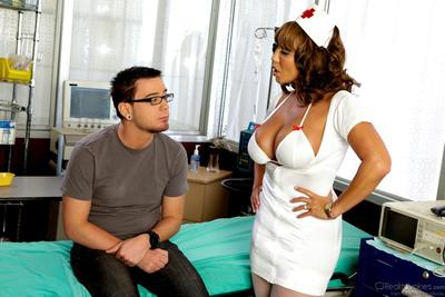 Eastern nurse Ava Devine takes off her uniform and climbs the tender wand