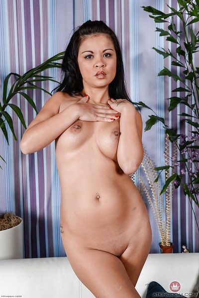 Ripened Chinese lady Jacky Fay-Lynn freeing went in teats and uterus from underclothes