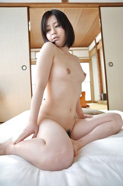 Magnificent brown hair pretty Eriko admires to remove clothes that attractive looking twat