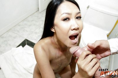 Alluring young Chinese actress Tala Basi takes admirable portion of bend over fucking