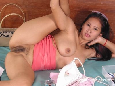 Chinese dear shows us her hirsute wet crack and incredible colossal normal milk shakes