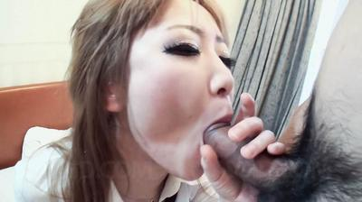 That malicious Eastern dear Ai Javhd is group-fucked during wearing hot school uniform and her fur pie is total