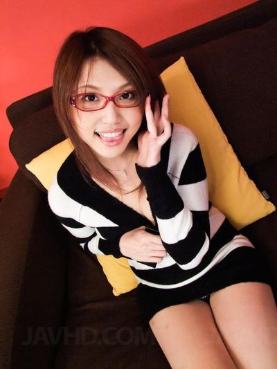 Elegant Japanese bookworm Rino Mizusawa doesn\