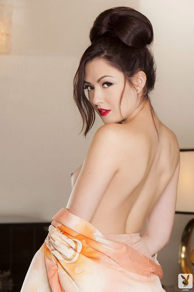 Astounding eastern playmate removing her  and posing without clothes in charming solo