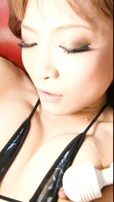 Japanese Misa Kikouden has an groupie with plenty of fellows abusing her with sex-toys and blasting spunk shots