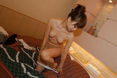 Eastern MILF Miyuki Takizawa erotic dance and exposing her soaking bushy bawdy cleft