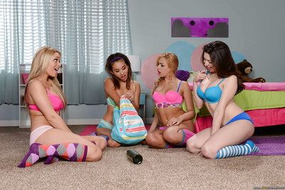 Alina Li and Carmen Caliente are having babe time in untamed socks