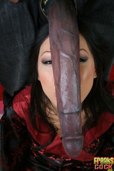 Eastern queen Tia Ling takes the largest facial ever exactly after getting penetrated by swarthy thug shlong