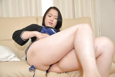 Oriental MILF Asami Sawai takes off her underclothing and enjoys fucking utensils enjoy