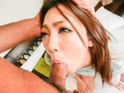 Chinese bimbo Hikari Javhd swallows the stick and receives the gentile masturbated with appliance