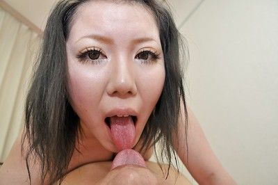 Eastern MILF Aya Uchiyama acquires her shaggy twat pumped and creampied