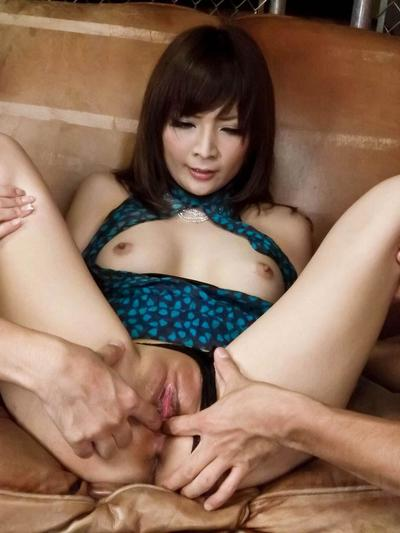 Sexually excited Eastern Riona Suzune has a heartless orgy savor with copious blow job enthralling