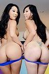 Chinese lesbian babes Asa Akira and Tia Ling show as mother gave birth milk sacks and shake moist wastes