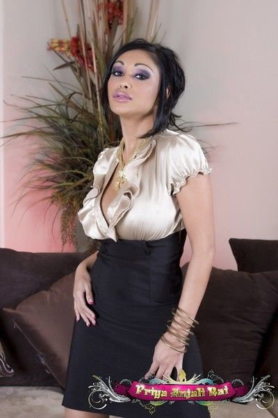 Take charge Indian Pornstar, Priya Anjali Rai, form staggering in the brush skin-tight outfit and bringing off..