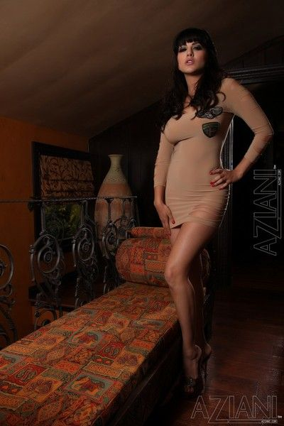 Busty overcast breathtaker Sunny Leone takes off her clothing coupled with poses minimal with her legs roughly open