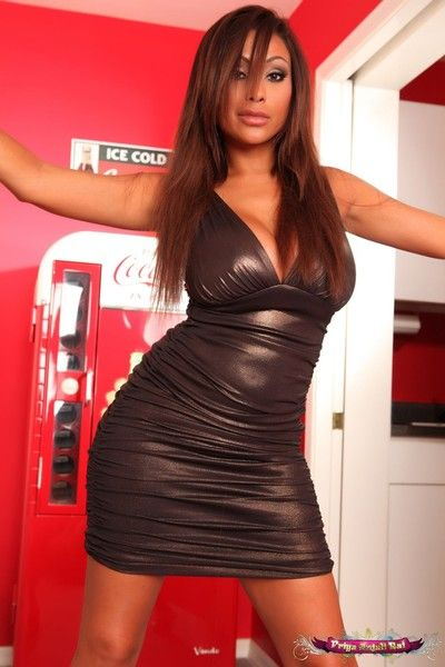 Priya rai strips off her chap-fallen dress in the hallway