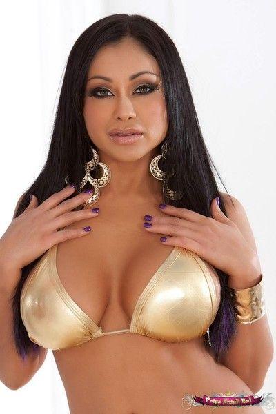 Priya rai strips off her sexy aureate bikini