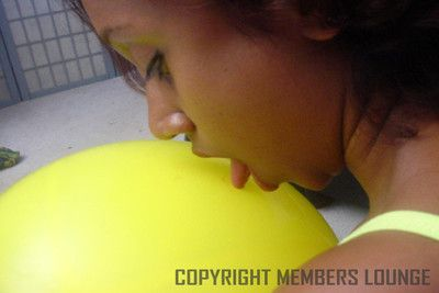 Cute naughty indian plays on every side balloons