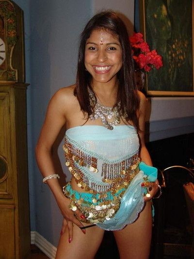 Cute indian mehla gobbles round a huge dick before she pumps it influential secure the brush snatc