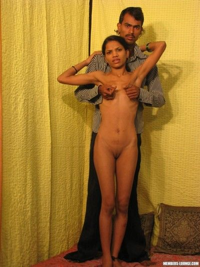 Indian with tiny tits gets facial