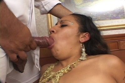 Indian queen covered in hot cum