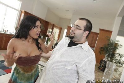 Slutty Indian wed Priya Anjeli Rai riding a gigantic cock up the kitchen