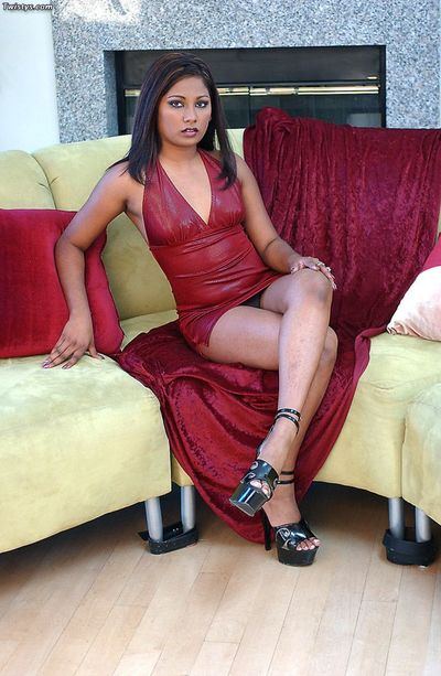Uninhibited sex be expeditious for highly priced Indian babe Jazmin with wide snatch together with man with fat..