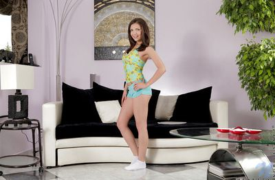 Taking and cute brunette infant Cosette Ibarra to astounding tits is showing her vitalized break loose