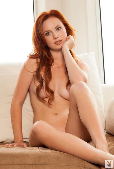 Charming young redhead Molly Shaw has perfect milky chest and incomparable juicy pussy