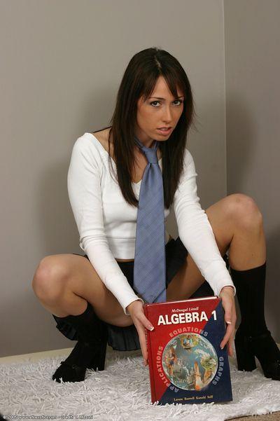 Amateur Latina babe showing off pithy teen schoolgirl boobs forth socks